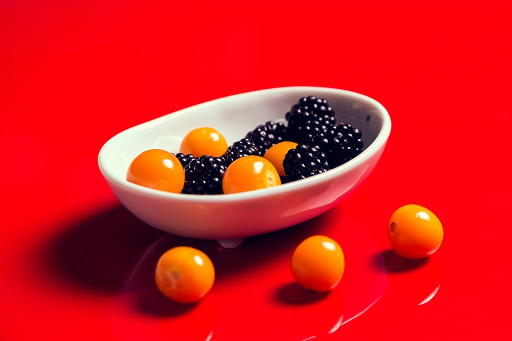 Brombeeren und Physalis ∙ Brambles and Physalis